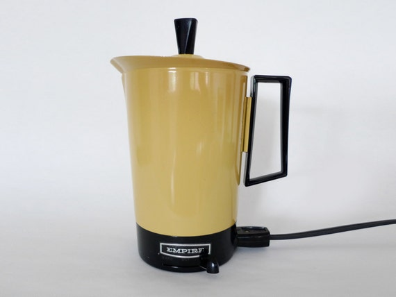 Vintage Yellow Empire Kettle