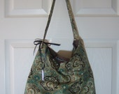 Slouch Bag - Rae Essence Handbags - Green & brown