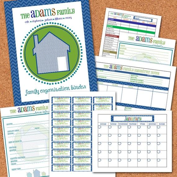 Family Organization Binder Printable By StephanieAdamsDesign