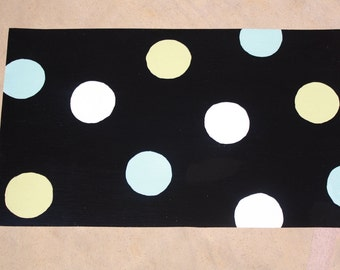 Polka Dot Pet Bowl Mat