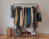 Artisan-Made Rustic / Industrial Clothing Rack (CANNOT SHIP)