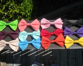 You Pick 3 Solid Colored Hair Bows with alligator clip