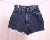 Lee acid wash denim high-waisted shorts