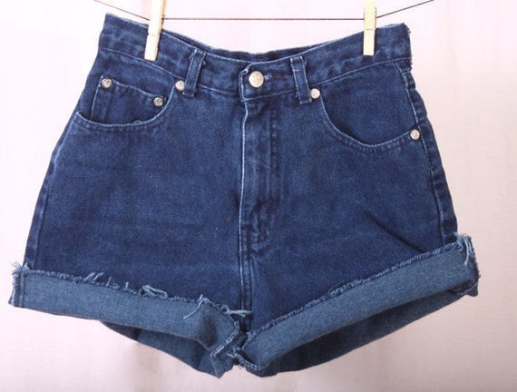 L.A. Blues denim high-waisted shorts
