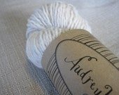 Reclaimed  Beige Wool Yarn, Great for dying, More than 120 yards Worsted/DK Weight
