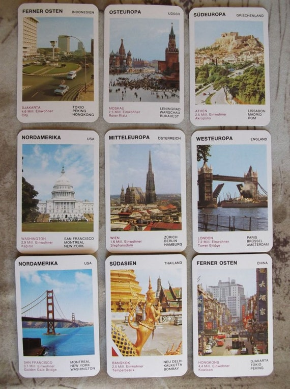 """SALE Deck of cards """"cities of the world""""    Collectibles    Souvenir    Supplies    Mixed media    Austria"""