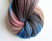 Hand dyed merino knitting sock wool / yarn plum, brown and blue -2ply sport / sock weight -approx 375 meters