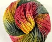 Superwash sock yarn - hand dyed - ultrafine merino, cashmere and nylon - 350 meters