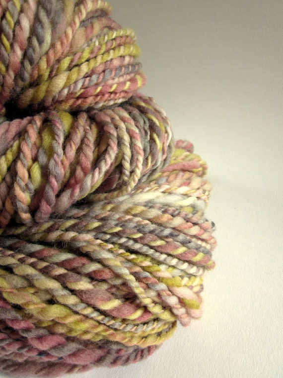 Handspun hand dyed chunky / bulky merino knitting wool / yarn  'BUTTERSCOTCH DELIGHT'