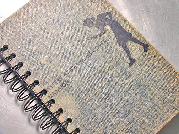 JOURNAL - Notebook RECYCLED Upcycled Altered Vintage Nancy Drew Mansion