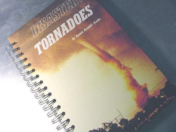 JOURNAL - Sketchbook RECYCLED Upcycled VINTAGE Disaster Tornado