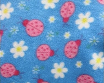 Kids double layer fleece Lady Bugs Print Made to Order Blankets