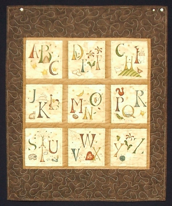 Chocolate Alphabet Quilt