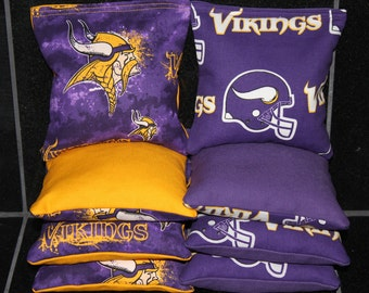 MINNESOTA VIKINGS Cornhole Bean Bags 8 AcA Regulation Corn Hole Bags VISIT my store for many more selections