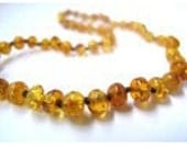 Golden Honey Baltic  Amber Teething Necklaces