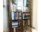 Stunning 1930s Bronze Plated Steel Bookcase / Cabinet  - Early Industrial Design