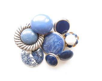 Vintage Jewelry Destash Lot in Shades of Blue