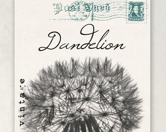 ETSY SHOP BANNERS Vintage Dandelion Etsy Shop Banner Set