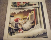 lot of 3 vintage Christmas holiday greeting cards new, unused