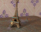 Rusty Eiffel Tower, Dollhouse miniature, scale 1:12