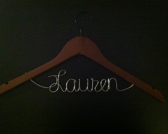 SPRING SALE 15% OFF -- Personalized Bridesmaid Hangers