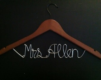 WINTER SALE 15% OFF -- Personalized Bridal Hanger