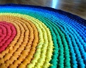 RESERVED for AuctionForPasha -- Do NOT Buy -- Rainbow Recycled T-Shirt Rag Rug