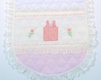 Baby. Baby girl burp cloth Baby Burp Cloths Pink Gingham Burp Cloths White Quilted Burp Cloths Lace Burp Cloths Hand Embroidered burp cloths