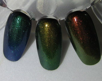Mythological Top Coat Trio Phoenix Dragon Unicorn Duochrome Color Shifting Indie Nail Lacquer 5mL Starlight Polish