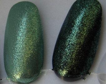 Star Jewel Duochrome Glass Fleck Top Coat Custom Nail Polish 5mL