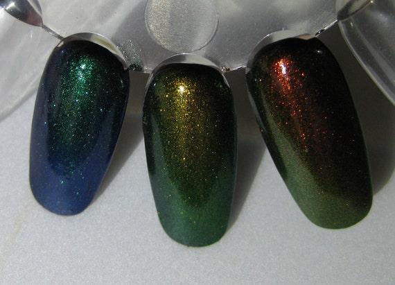 Phoenix Dragon Unicorn Duochrome Color Shifting Mythological Top Coat Trio Custom Nail Polish 5mL each