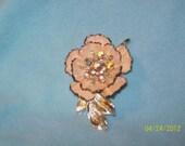 Vintage Corro Flower Brooch