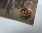 Vintage Button Fridge Magnets - Gold and Silver colored - Set of 6