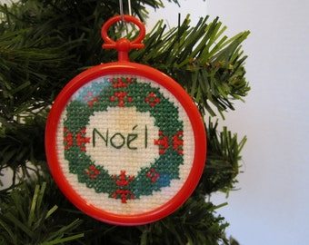 NOEL  Christmas Tree Ornament