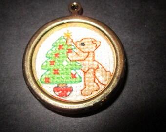 Miniature Bear Decorating Tree Christmas Tree Ornament