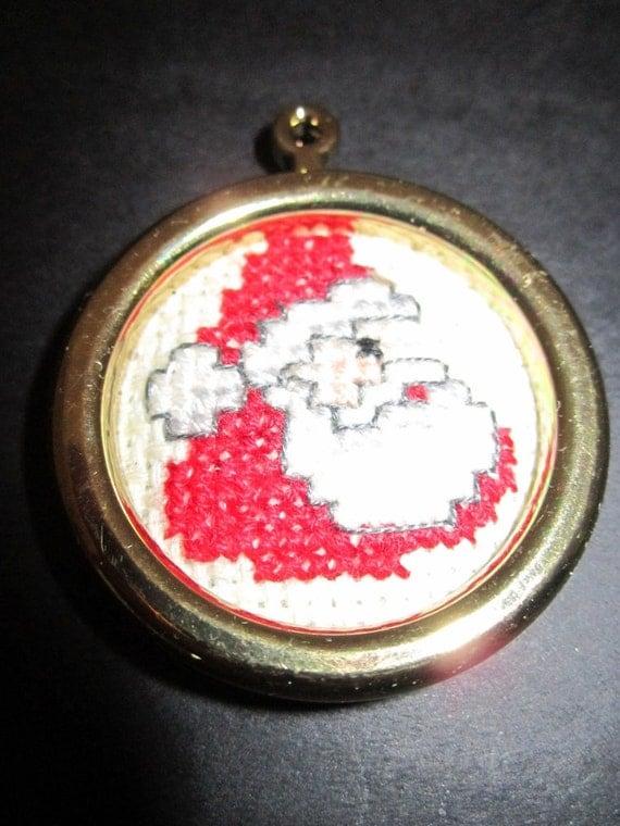 Miniature Santa Christmas Tree Ornament