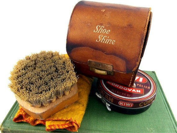 Vintage Shoe Shine Kit From England