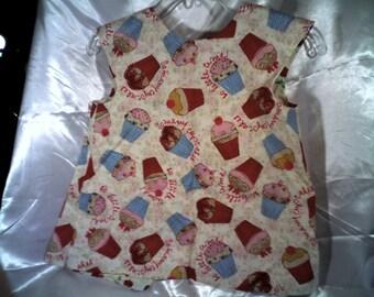 Cupcake Art/Paint-smock/apron-baby bib