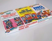 Rare Vintage Triple challenger game box for kids ( Puzzle, Picture match and mix up story)
