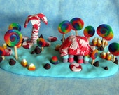 Hand Crafted Polyclay Candy Island