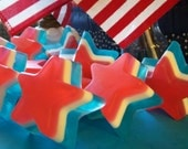 Soap Stars, Fruity Fragrance, 4th July, Birthday Favors, Presidents Day, Memorial Day, Party Favors, Shower Favors, Soaps, Gifts, ACOFT, OFG