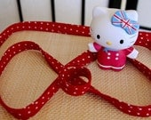 1/2 Inch Double Fold Bias Edging - Red with With White Hearts