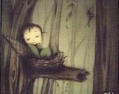 Canvas Wood Block Art - little  fairy
