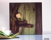 Canvas Wood Block Art - little fairy at home
