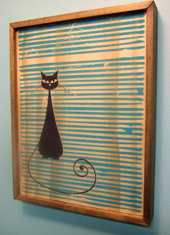 Mid Century Modern Style Cat Print (LAST ONE)