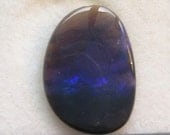 3 Carat Purple and Blue On Black Picture Stone