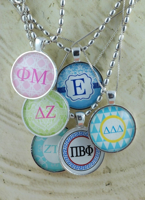 Sorority girl jewelry personalized with custom by for Sorority necklaces letters