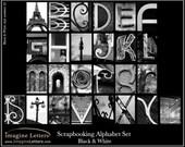 Scrapbooking Alphabet  Photography Print - black & white
