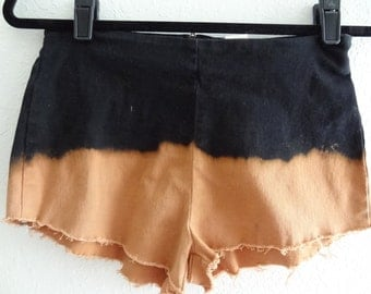 Bleached Black Ombre Shorts