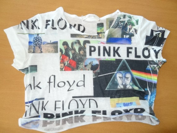 sheer pink floyd crop top